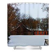 Christmas @ The Barn Shower Curtain