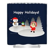 Christmas #6 And Text Shower Curtain