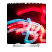 Christmas Abstract Wall Art Shower Curtain