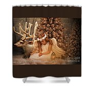 Christmas Angel Shower Curtain