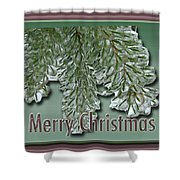Christmas Arborvitae In Ice Shower Curtain