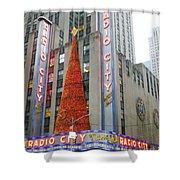 Christmas At Radio City Music Hall Shower Curtain