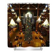 Christmas At The Lodge Shower Curtain