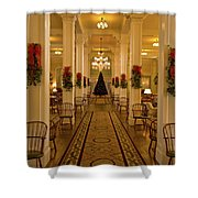 Christmas At The Mount Washington Hotel Shower Curtain