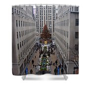 Christmas At The Rock Shower Curtain