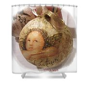 Christmas Ball , Angels Shower Curtain