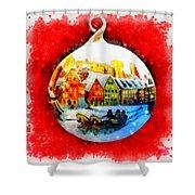 Christmas Ball Ball Shower Curtain