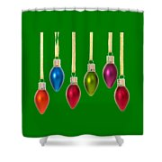 Christmas Baubles Tee Shower Curtain
