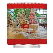 Christmas Bears Shower Curtain