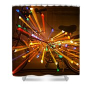 Christmas Bike Abstract Shower Curtain