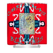 Christmas Blessings 3 Shower Curtain