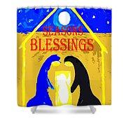 Christmas Blessings 5 Shower Curtain