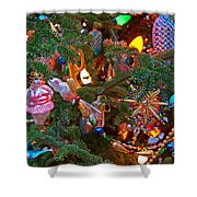 Christmas Bling #4 Shower Curtain