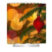 Christmas Bokeh Shower Curtain