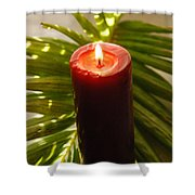 Christmas Candle 2 Shower Curtain