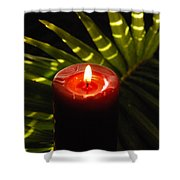 Christmas Candle Shower Curtain