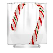 Christmas Candy Cane Shower Curtain