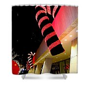 Christmas Candy Canes Shower Curtain