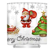 Christmas Card 12 Shower Curtain