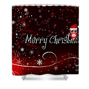 Christmas Card 3 Shower Curtain