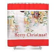 Christmas Card 5 Shower Curtain