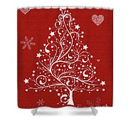 Christmas Card 5 Shower Curtain