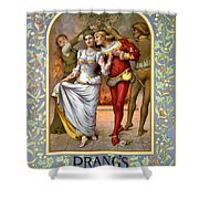 Christmas Cards, C1886 Shower Curtain