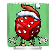 Christmas Casino Party Shower Curtain
