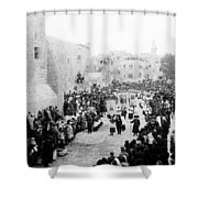 Christmas Celebration 1900s Shower Curtain