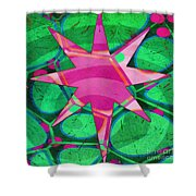 Christmas Celebration Abstract Painting Shower Curtain