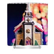 Christmas Chapel 2 Shower Curtain