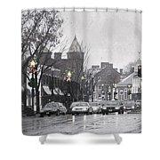 Christmas City Street Shower Curtain