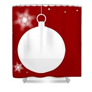 Christmas Copy Space Shower Curtain