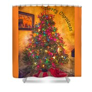 Christmas Corner Shower Curtain