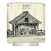 Christmas Crib-1940 Shower Curtain
