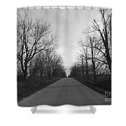 Christmas Day Country Road Shower Curtain