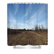 Christmas Day In The Country Shower Curtain