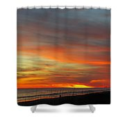 Christmas Day Sunset Shower Curtain