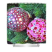 Christmas Dots No. 1-1 Shower Curtain