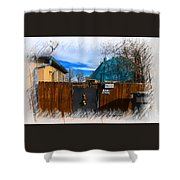 Christmas Down The Alleyway Shower Curtain