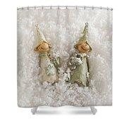 Christmas Elves Shower Curtain