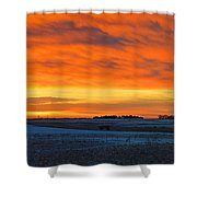 Christmas Eve Panrama 2 Shower Curtain