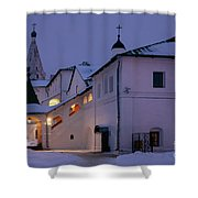 Christmas Evening Light In The Temple Suzdal Shower Curtain