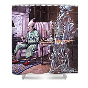 Christmas Ghost Shower Curtain