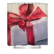 Christmas Gift Shower Curtain