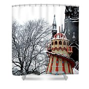 Christmas Helter Skelter Scotland Shower Curtain