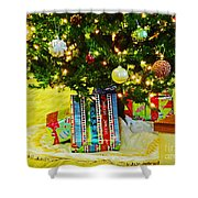 Christmas Holiday Tree Shower Curtain