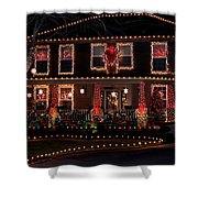 Christmas House-2 Shower Curtain