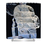 Christmas Ice Sculpture Angel Shower Curtain