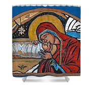 Christmas Icon 1 Shower Curtain